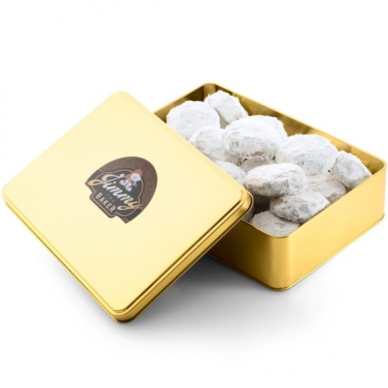 Walnut Meltaway In Holiday Gift Tin (1.75 Lb.) - Click Image to Close
